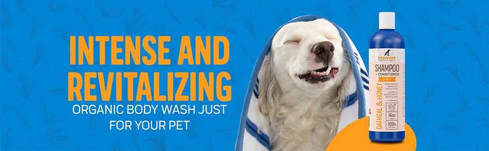Innovet Pet shampoo and conditioner dog shampoo oatmeal dog shampoo natural dog and cat shampoo