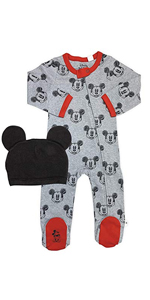 finn and emma, footie, baby hat, organic baby clothes, baby gift, infant set, disney