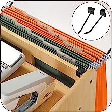 wood desk organizer hanging file box drawer organizer office home office organization and storage