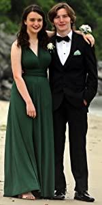 Green transformer wedding dress juniors sleeveless multi way wrap wedding guest bridesmaid dresses