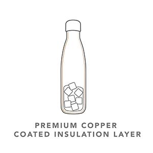 Wave Water Bottle Copper Triple Insulation