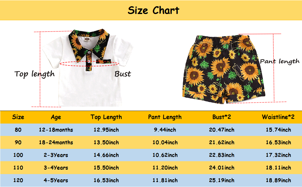 baby boy size chart