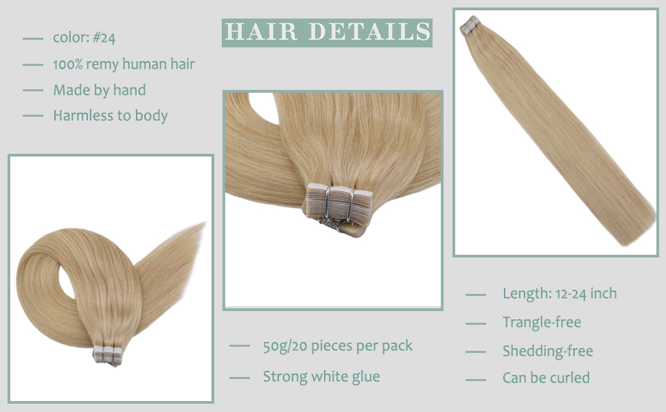 TAPE IN HUMAN HAIR