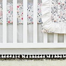 elegant crib skirt