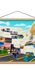 Road Trip- themed PhotoMap.