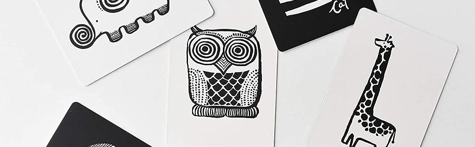 owl, elephant, giraffe, art cards, baby, learn, education