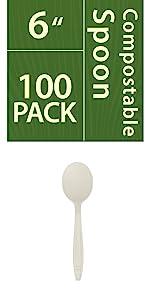 compostable spoon white
