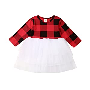 Christmas Long Sleeve Tutu Dress