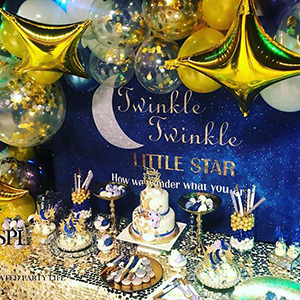 Allenjoy 10x8ft Photography Backdrop Background Twinkle Twinkle Little Star Gold Glitter Birthday Party Supplies Banner Newborn Gender Reveal Decorations Props Photo Booth Baby Shower Photocall