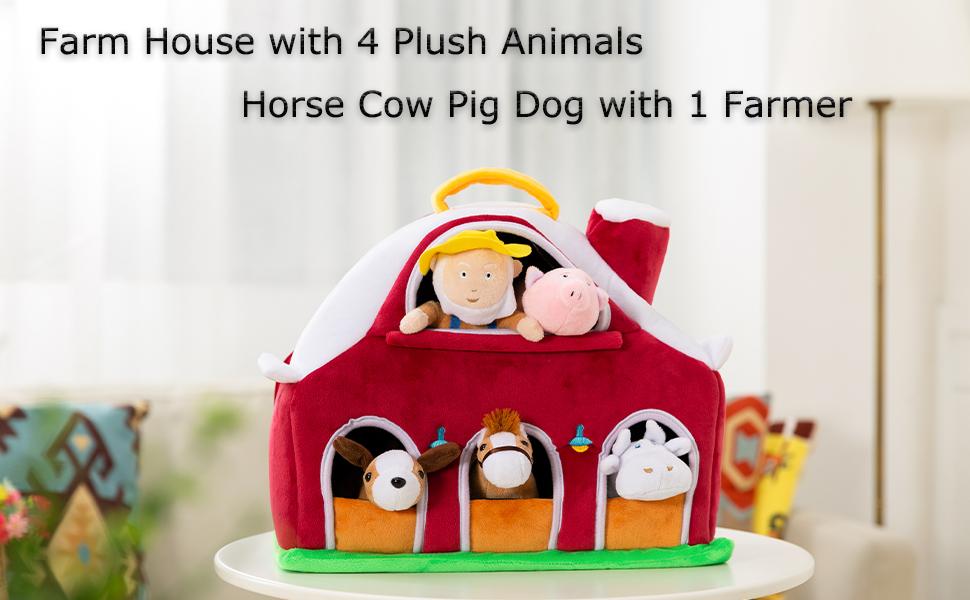 farm animals for toddlers farm house toy farm toddlers plush farm animals kids horse playset
