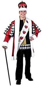 Deluxe King of Hearts, costume, king of hearts, alice in wonderland