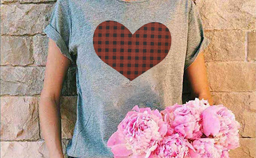 Plaid Love Shirts for Women