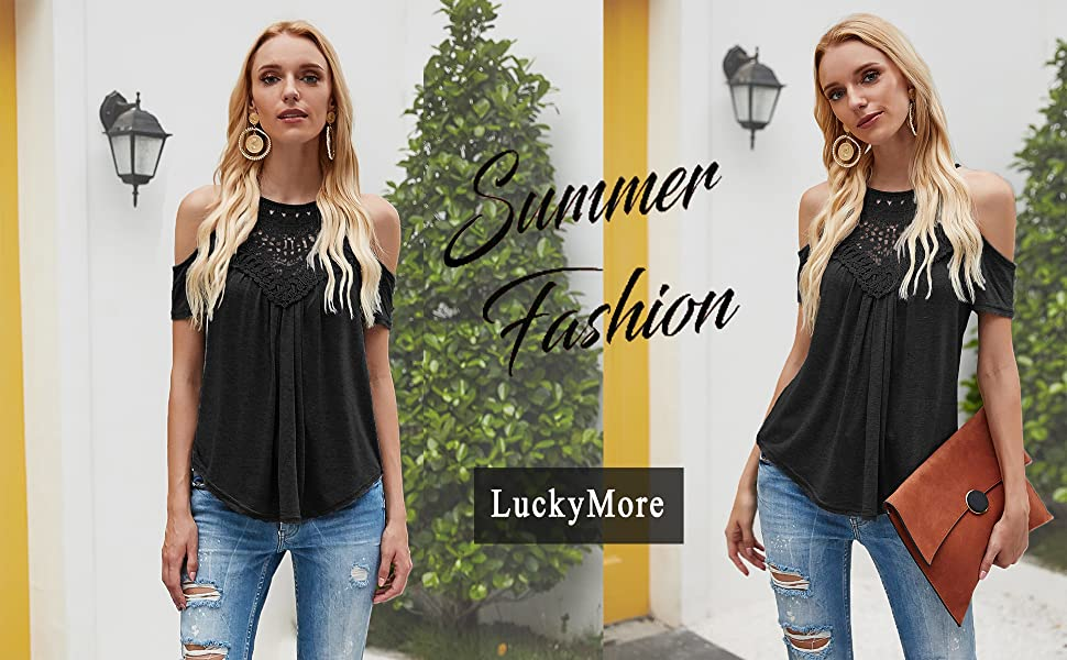 cold shoulder tops for women cute summer tops for women halter tops lace tops for women flowy