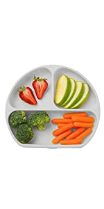 Suction Plates for Toddlers - Gray