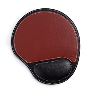 mouse pad leather with wist