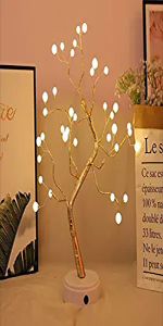 pearl tree lights 36 LED warm white bonsai tree light adjustable branches desk table lights