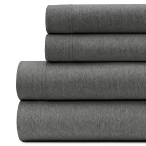 Ultra-Luxury Cotton Heathered Jersey Sheets - 150 GSM Heather Sheet Sets nights more restful