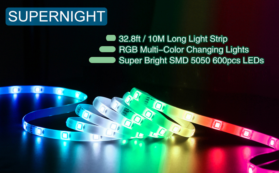 32.8ft strip lights