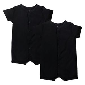 2 Pack Black Short Sleeve Romper