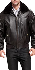 Landing Leathers Men's Air Force B-15 Leather Flight Bomber Jacket