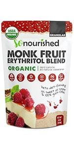 Granular Monk Fruit Erythritol Sweetener