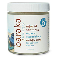 mineral salt sinus flu cold colds relief blend organic infused baraka neti pot cleanse nasal sinus