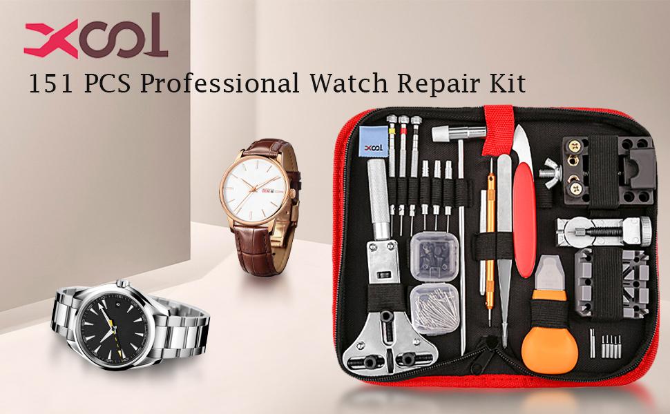 XOOL 151 PCS Watch Repair Kit Professional Spring Bar Tool Set