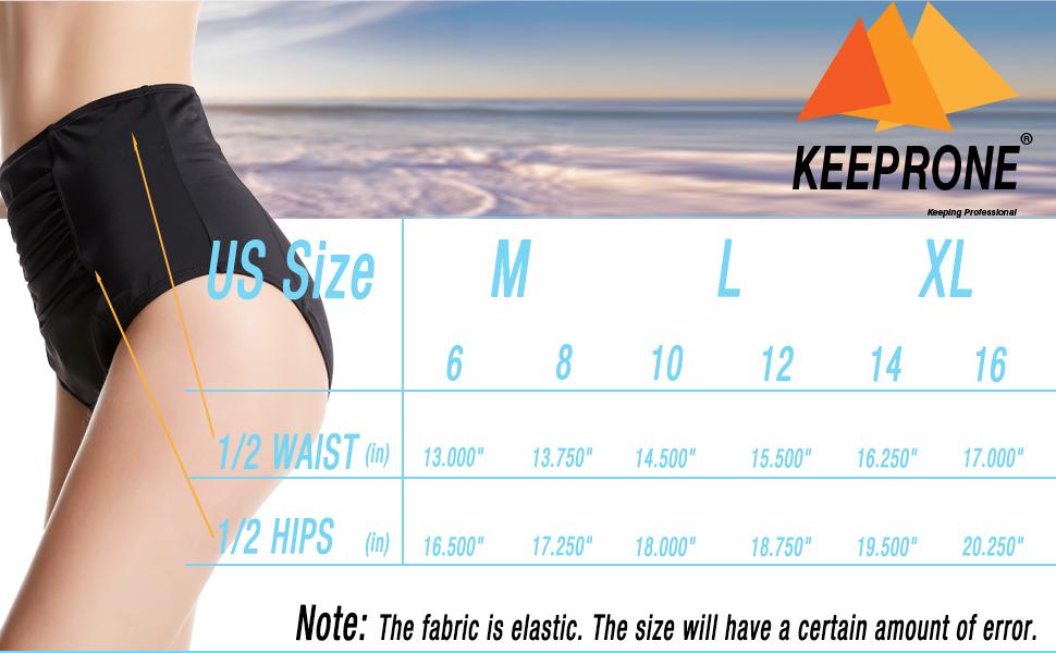 size for high waist swim briefs