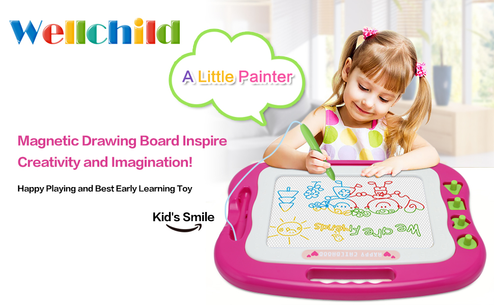 Wellchild magnetic drawing board