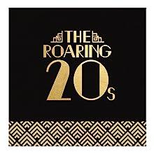 Roaring 20's Foil Beverage Napkin