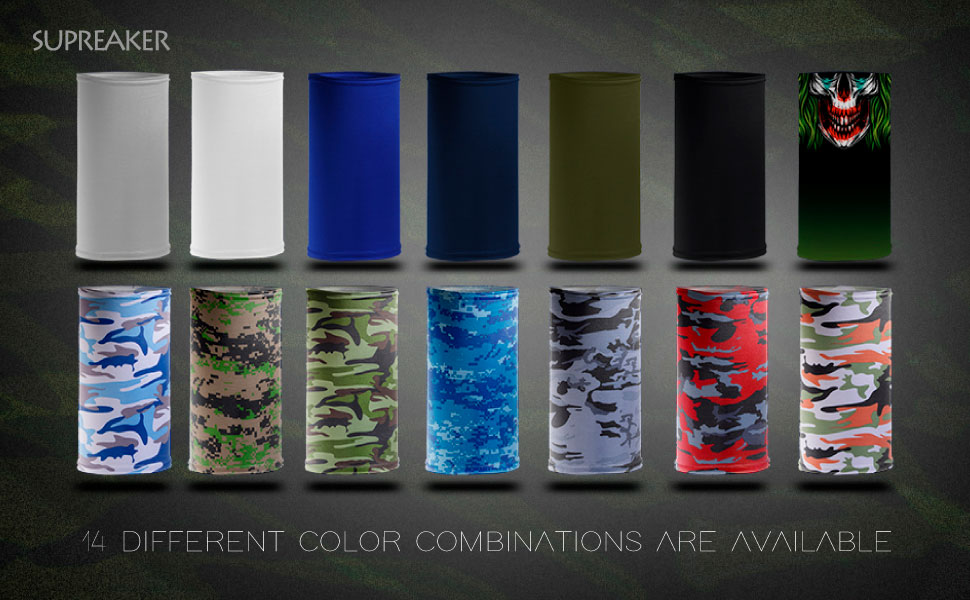 14 different color combinations are available