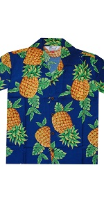 Pineapple Print Hawaiian Shirts for Boys