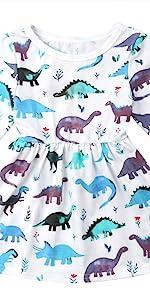 女孩恐龙连衣裙