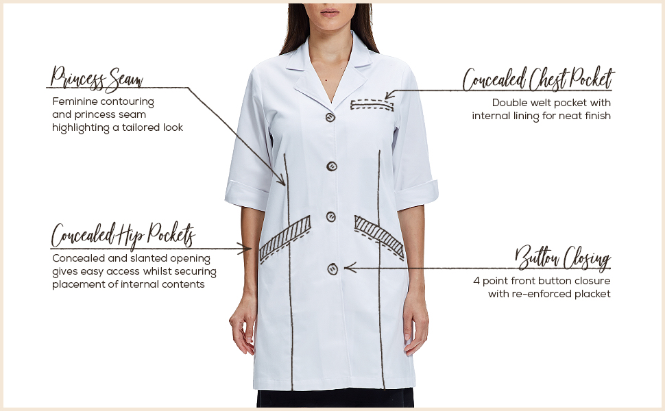 lab coat short sleeve