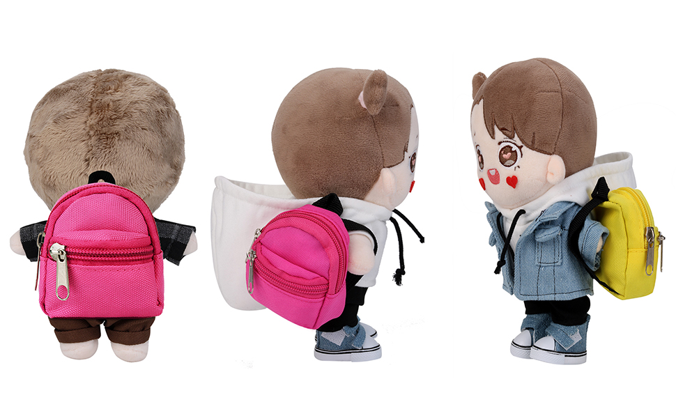 Doll Backpack Fanspack 7PCS Doll Bag for Doll Backpack Cute Mini Creative Canvas Doll Supplies Doll Bag for Dolls