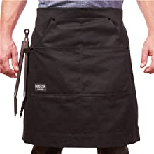 Hudson Black Cotton Apron waist fold