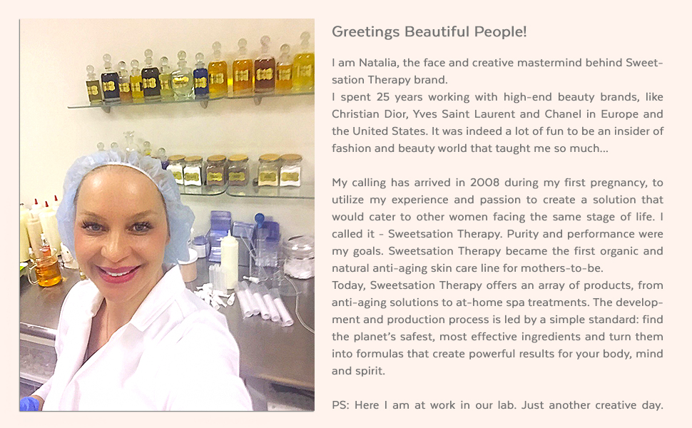 The owner of Sweetsation Therapy Natalia and the story behind the birth of the company and our ethos