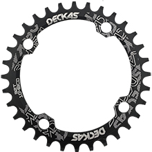 104BCD 32T narrow wide chainring single chainring for 8/9/10/11-speed round black