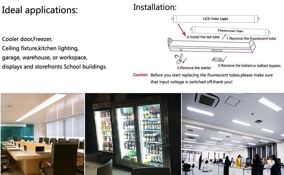 4ft led tube lighting