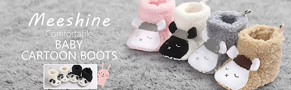 cartoon baby booties