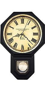 Matte Black Pendulum Wall Clock