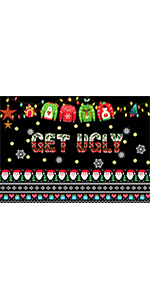 Ugly Black Background Party Banner Photo Booth Studio Props Vinyl 5x3ft