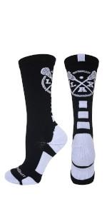 Lacrosse Socks Crew Boys Mens Girls Womens