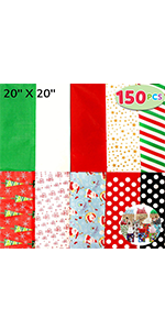 150 Sheets Christmas Tissue Paper Assorted Design