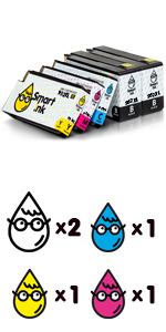 Compatible Ink Cartridges for HP 952XL 5-Pack
