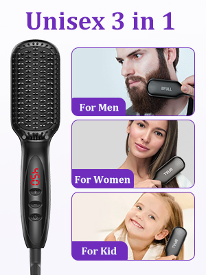 3in 1 Straightening Brush Comb