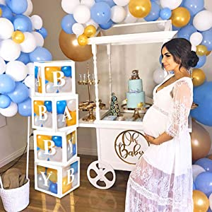 baby shower boxes decorations