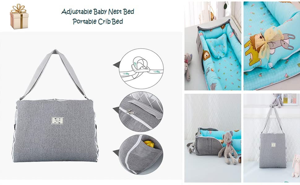 brandream baby nest bed with bag