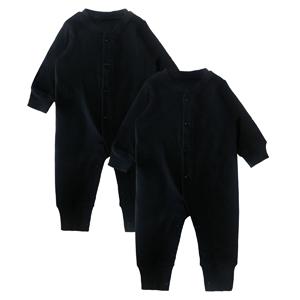 2 pack black long sleeve romper
