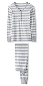 Womens Organic Long Sleeve Pajama Set